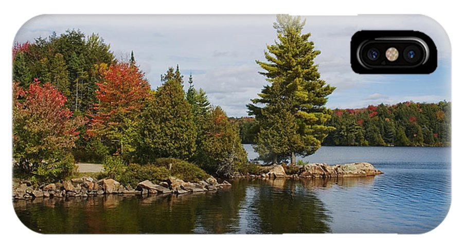 Canada IPhone X Case featuring the digital art Algonquin - Canoe Lake by Pat Speirs