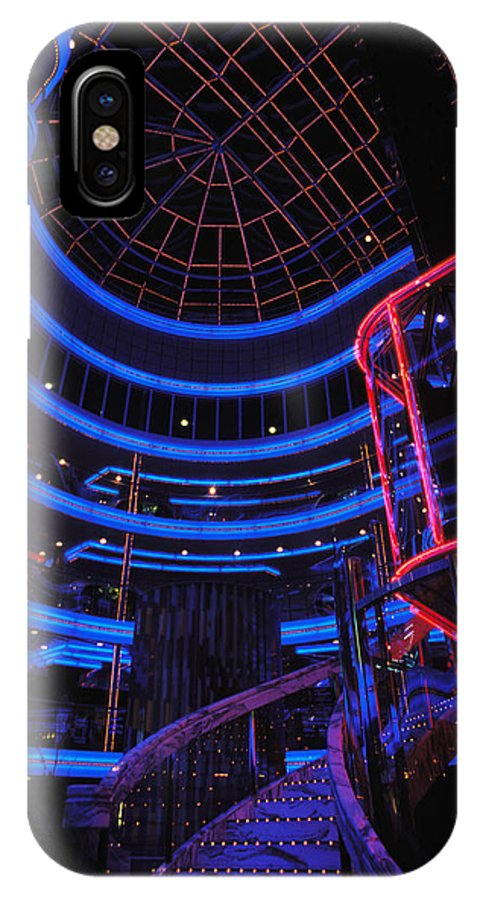 Cruiseship IPhone X Case featuring the photograph Carnival Atrium by Carl Purcell