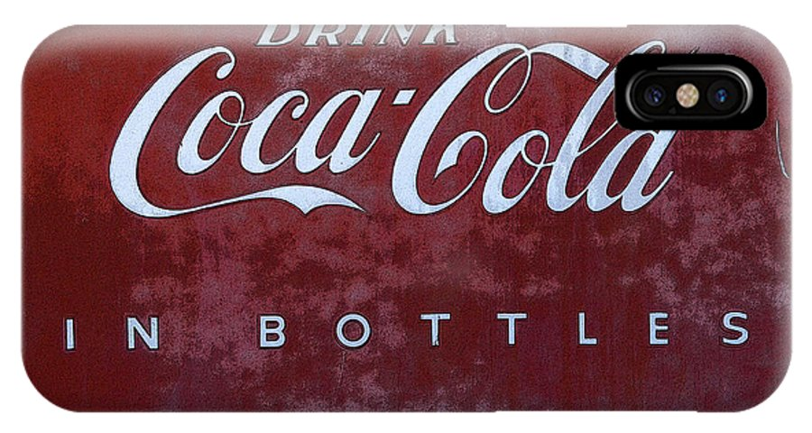 Coke Memorbelia IPhone X Case featuring the photograph Coca Cola Memorbelia by Bob Christopher