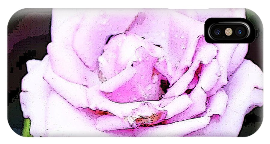 Pink Rose IPhone X / XS Case featuring the photograph Dying Rose by Ruth Yvonne Ash