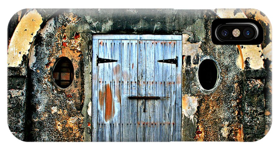 Fort IPhone X Case featuring the photograph Old Wooden Doors by Perry Webster