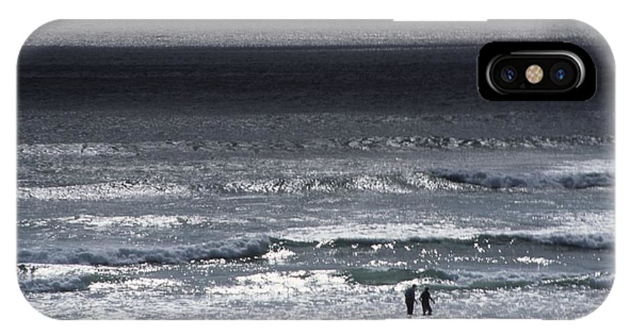 Ocean IPhone X Case featuring the photograph Wading In The Water by One Rude Dawg Orcutt