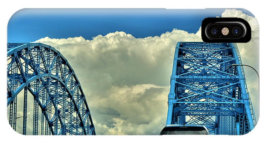 IPhone X Case featuring the photograph 005 Grand Island Bridge Series by Michael Frank Jr