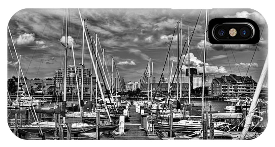 IPhone X Case featuring the photograph 005bw On A Summers Day Erie Basin Marina Summer Series by Michael Frank Jr