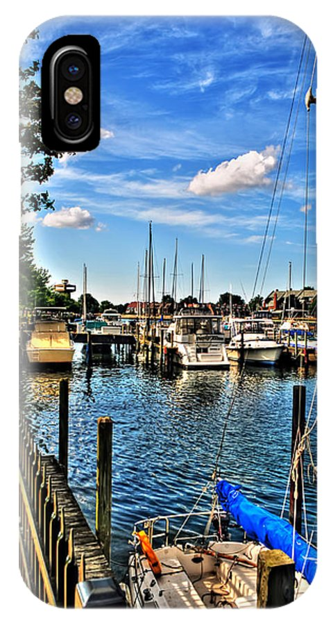 IPhone X Case featuring the photograph 008 On A Summers Day Erie Basin Marina Summer Series by Michael Frank Jr