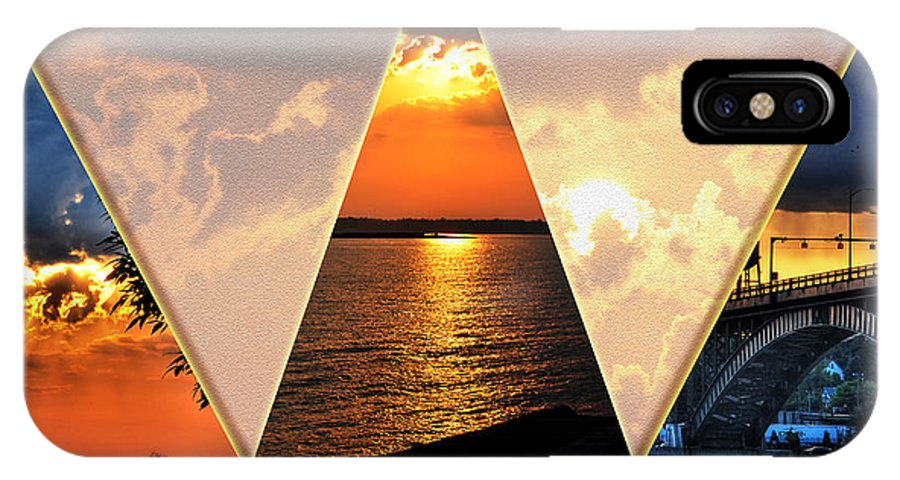 IPhone X Case featuring the photograph 0a Relaxing Sunsets Collage by Michael Frank Jr