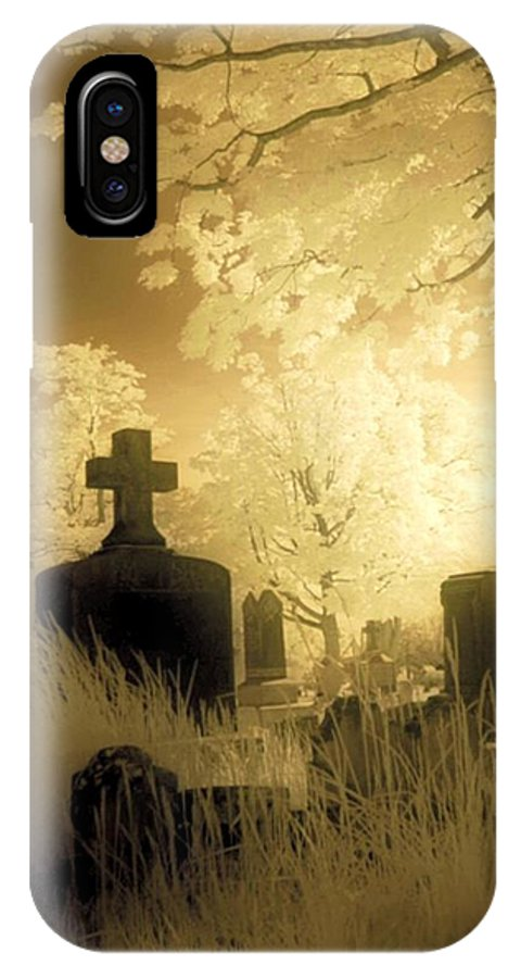 Graveyard IPhone X Case featuring the photograph Abandoned And Overgrown Cemetery by Gothicrow Images