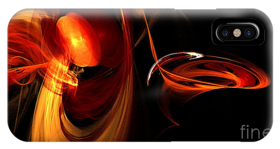 Fractal Digital Art IPhone X Case featuring the photograph Abstract Four by Mike Nellums