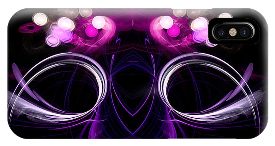Fractal Digital Art IPhone X Case featuring the photograph Abstract Sixteen by Mike Nellums