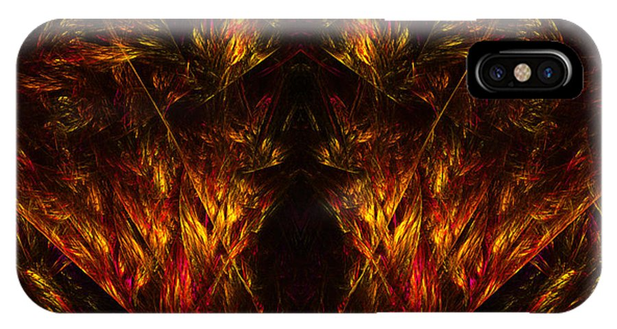 Fractal Digital Art IPhone X Case featuring the photograph Abstract Thirty-nine by Mike Nellums