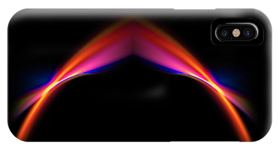 Fractal Digital Art IPhone X Case featuring the photograph Abstract Thirty-two by Mike Nellums