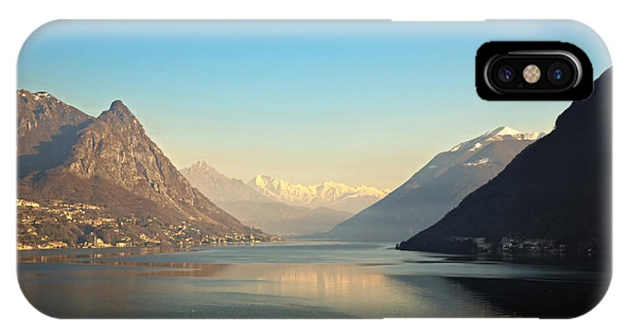 Lake IPhone X Case featuring the photograph Alpine Lake by Mats Silvan