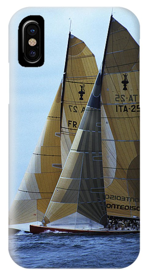 Sailboats IPhone X Case featuring the photograph Americas Cup In San Diego by Carl Purcell