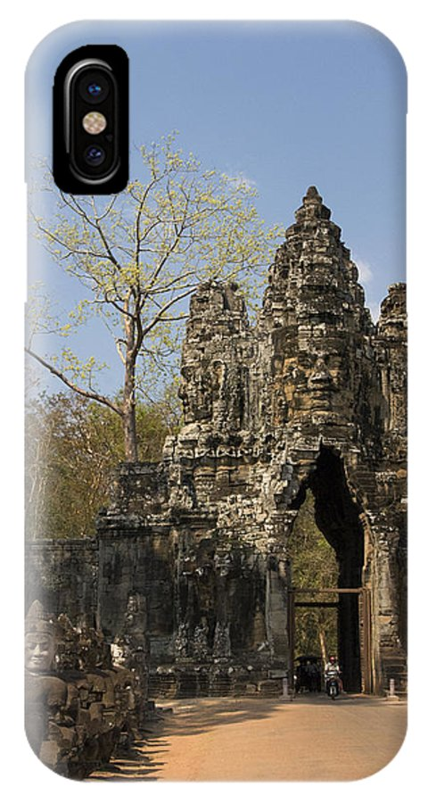 Ancient IPhone X Case featuring the photograph Angkor Thom by Gloria & Richard Maschmeyer