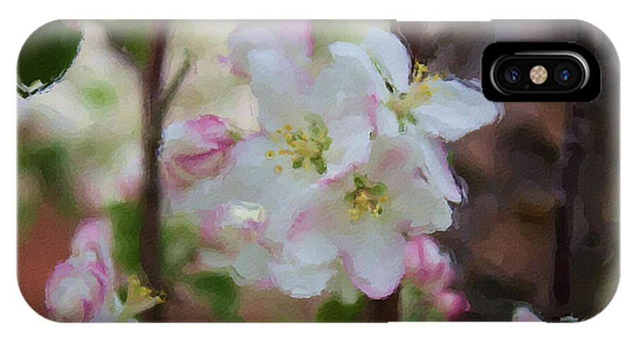 Blooms IPhone X Case featuring the painting Apple Blossoms by Brenda Deem