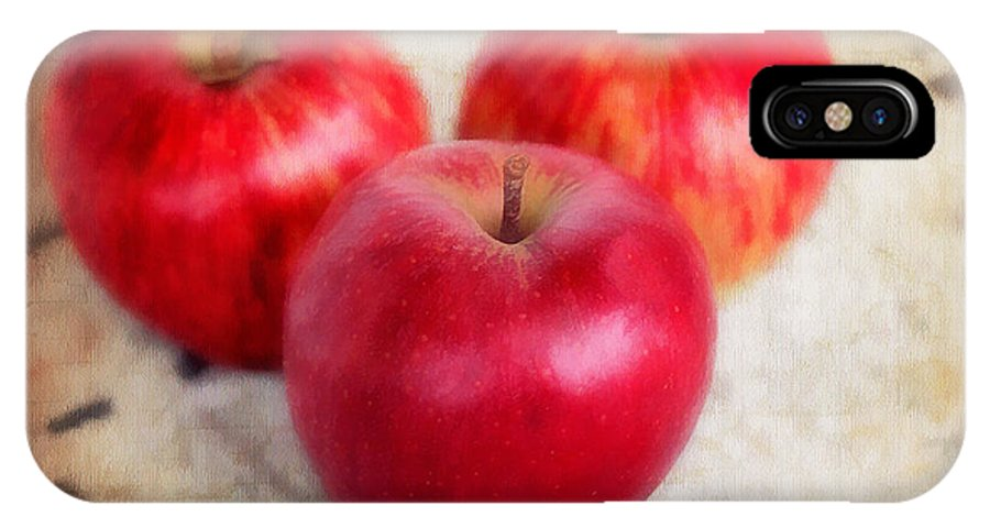 Appetizing IPhone X Case featuring the photograph Apples by Darren Fisher