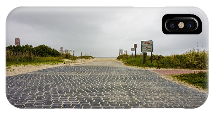 Topsail IPhone X Case featuring the photograph Arriving At The End by Betsy Knapp