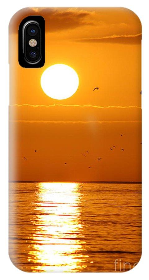 Auburn Sky IPhone X Case featuring the photograph Auburn Sky by Christiane Schulze Art And Photography