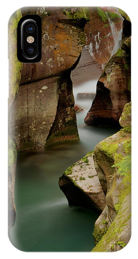 Creek IPhone X / XS Case featuring the photograph Avalanche Gorge by Idaho Scenic Images Linda Lantzy