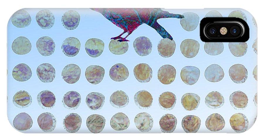 Bird IPhone X Case featuring the digital art Bird by Ann Powell