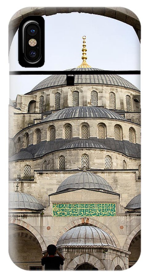 Blue IPhone X Case featuring the photograph Blue Mosque by Artur Bogacki