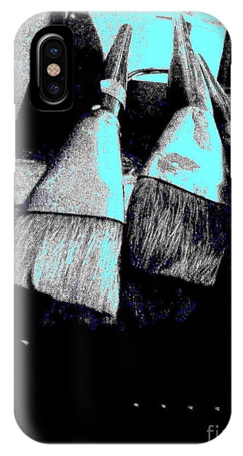 Digital Art IPhone X Case featuring the digital art Brush 0635 9 by Nina Kaye