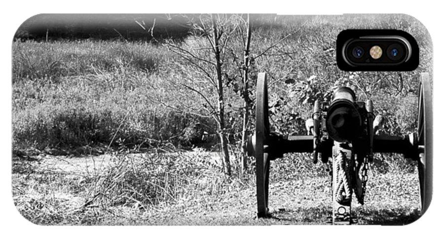 Usa IPhone X / XS Case featuring the photograph Canon Fire by LeeAnn McLaneGoetz McLaneGoetzStudioLLCcom