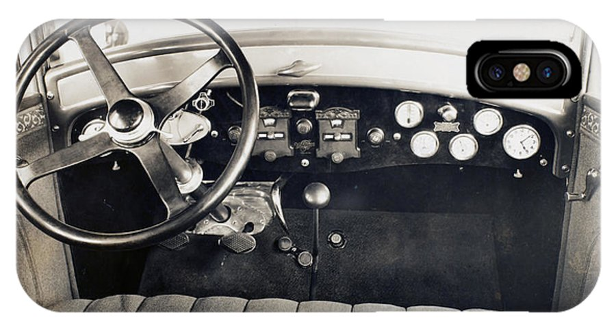 1940 IPhone X Case featuring the photograph Car Radio, C1940 by Granger