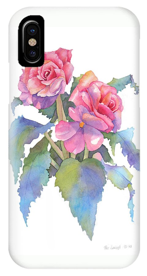 Begonias IPhone X Case featuring the painting Carmel Begonias by Pat Yager