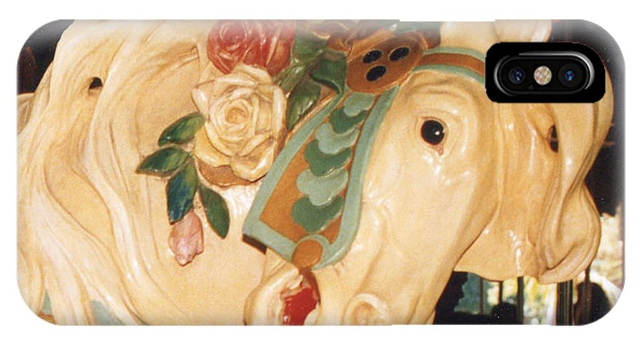 Carousel IPhone X Case featuring the photograph Carousel by Phyllis Britton