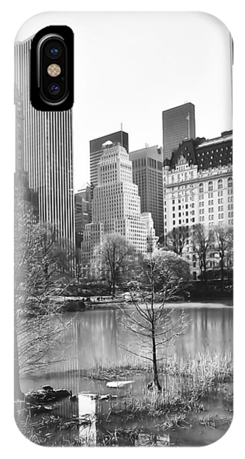 America IPhone X Case featuring the photograph Central Park by Svetlana Sewell