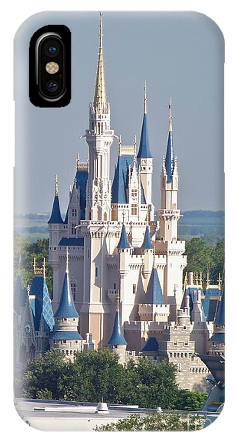 Wdw IPhone X Case featuring the photograph Cinderella's Castle by Carol Bradley