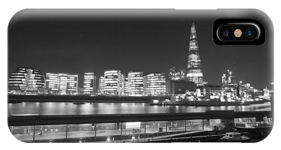 Tower Bridge IPhone X Case featuring the photograph City Hall And Hms Belfast by David French