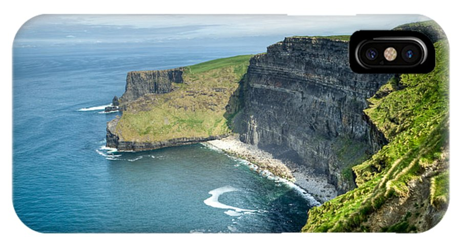Cliffs IPhone X Case featuring the photograph Cliff Of Moher 31 by Douglas Barnett