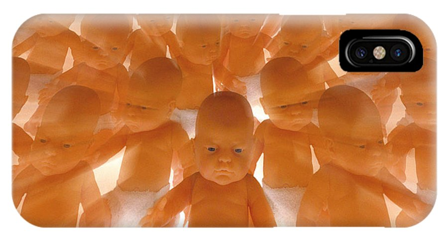 Babies IPhone X / XS Case featuring the photograph Cloned Babies by Victor De Schwanberg