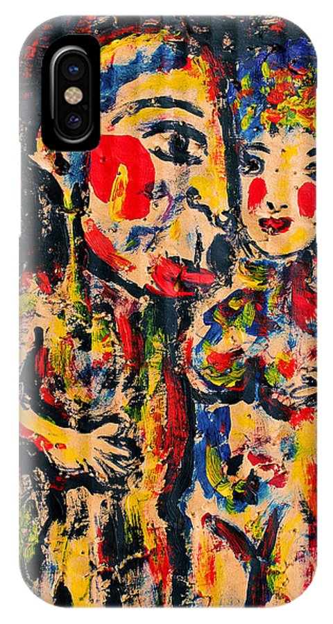 Couple IPhone X Case featuring the painting Closeness by Natalie Holland