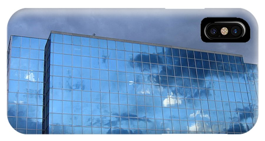 Clouds IPhone X / XS Case featuring the photograph Cloud Reflection by Denise Keegan Frawley