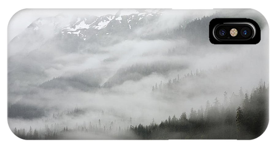 Mp IPhone X Case featuring the photograph Clouds And Mist Over Forest, Admiralty by Konrad Wothe