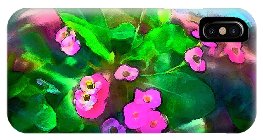 Floral IPhone X Case featuring the photograph Color 115 by Pamela Cooper