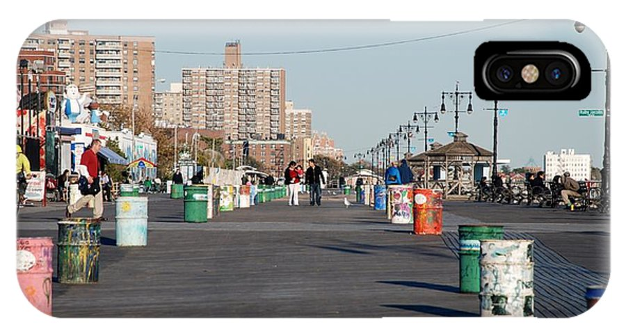 Brooklyn IPhone X Case featuring the photograph Coney Island Boardwalk by Rob Hans