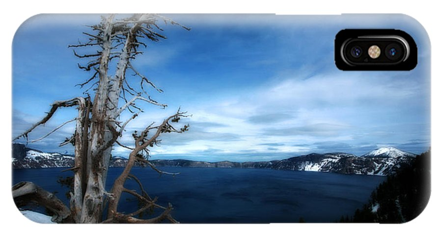 Crater Lake IPhone X / XS Case featuring the photograph Crater Lake by Bonnie Bruno
