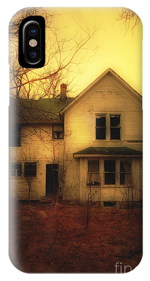House IPhone X Case featuring the photograph Creepy Abandoned House by Jill Battaglia