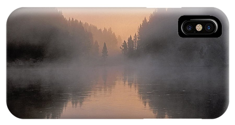Bronstein IPhone X Case featuring the photograph Dawn On The Yellowstone River by Sandra Bronstein