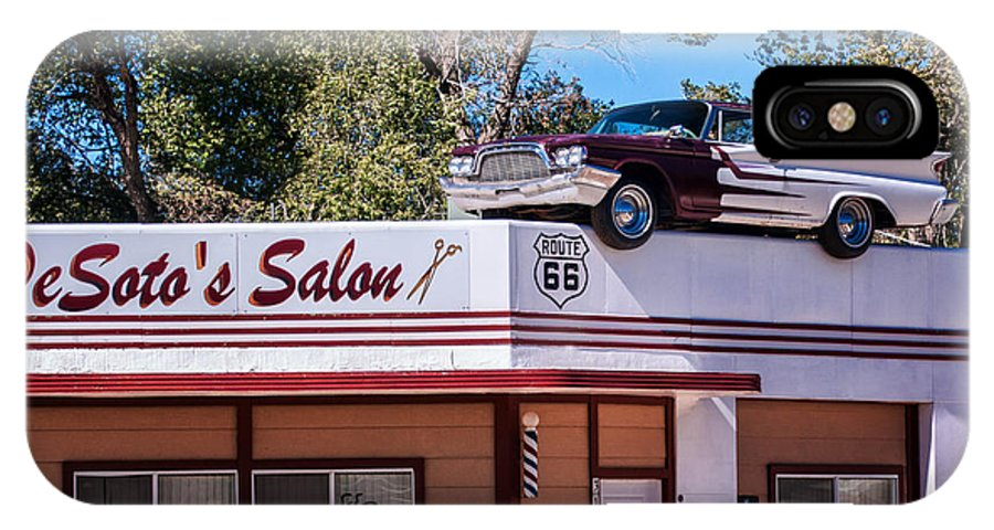 Beauty IPhone X Case featuring the photograph Desoto's Salon by Diane Wood