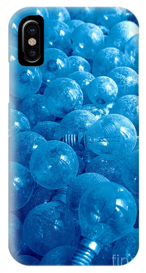Lights IPhone X Case featuring the photograph Dusty Light Bulbs by Gaspar Avila