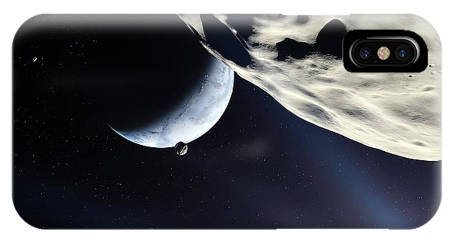 Planet IPhone X / XS Case featuring the photograph Earth-like Alien Planet by Detlev Van Ravenswaay