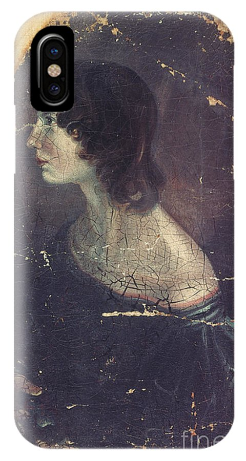 1833 IPhone X Case featuring the photograph Emily Bronte by Patrick Branwell Bronte