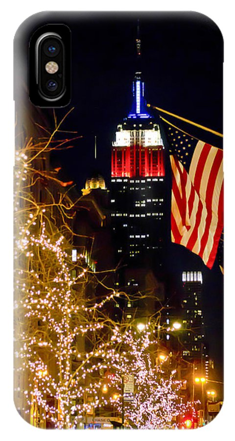 Empire State Building IPhone X Case featuring the photograph Empire State Building by Theodore Jones