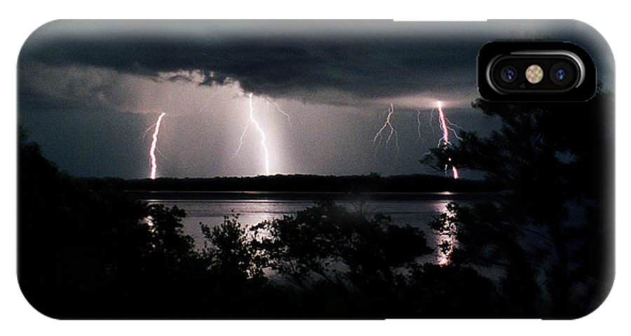 Lightning IPhone X / XS Case featuring the photograph Everglades Triple Threat by La Rae Roberts