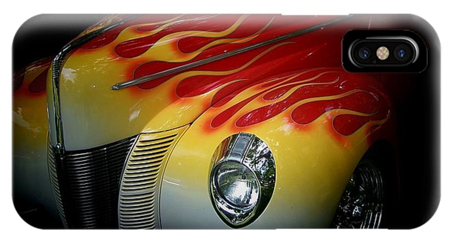 Vintage Cars IPhone X Case featuring the photograph Flaming Beauty by Christy Leigh